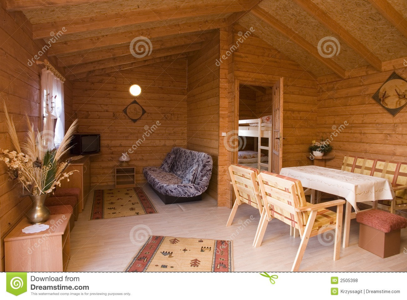 Rustic Home Interior Stock Photo Image Of Area Retreat