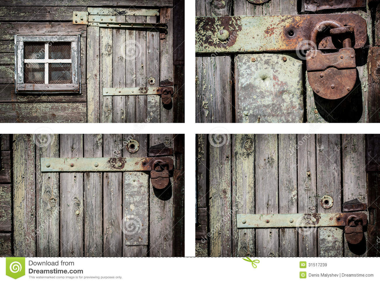 Rustic House Wall Background Set Royalty Free Stock Images