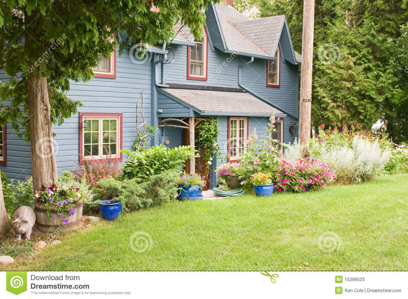 Rustic House In Woods Stock Photos - Image: 15299523