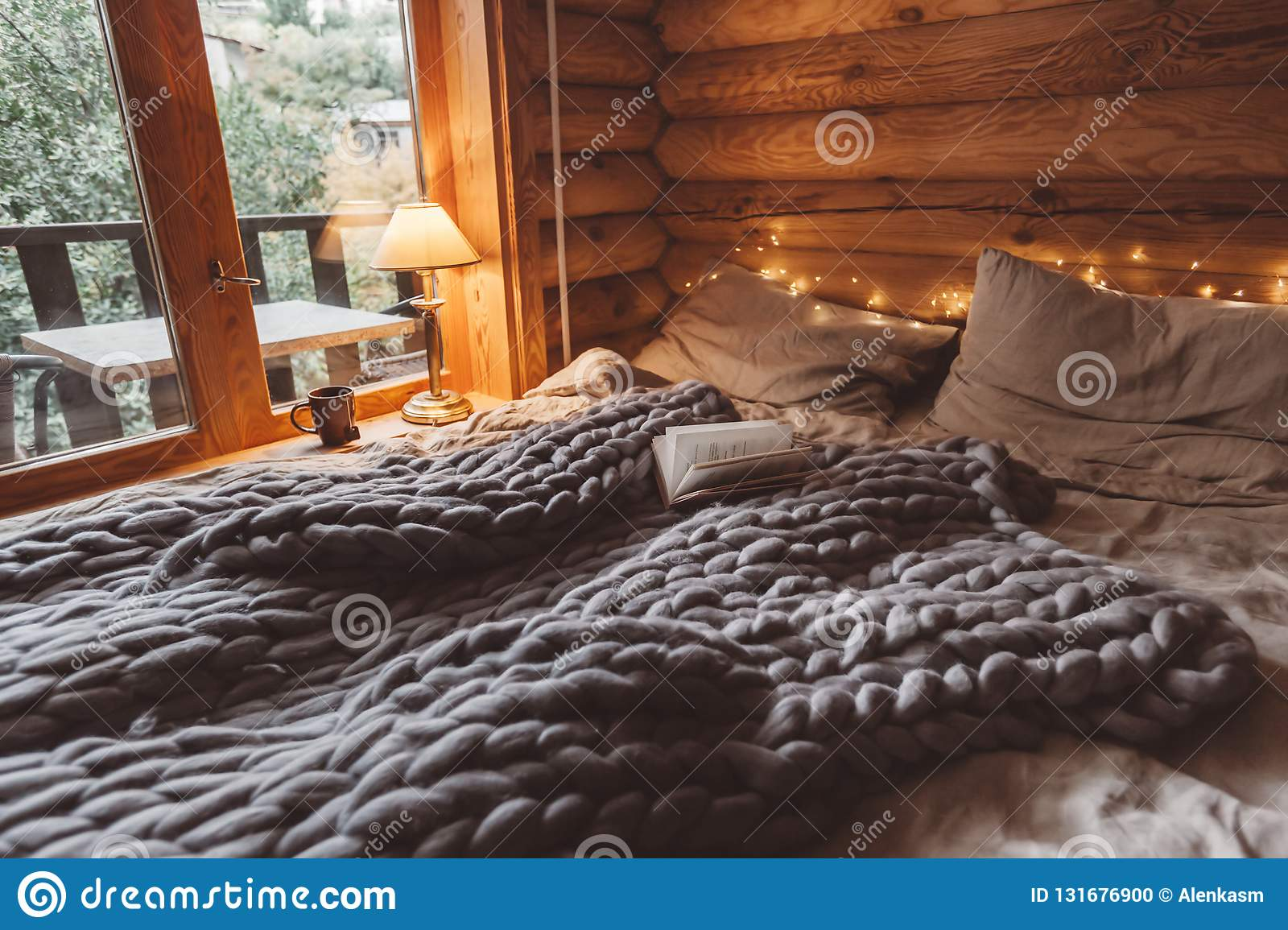 Cozy Winter Weekend In Log Cabin Stock Photo Image Of Chill Lodge