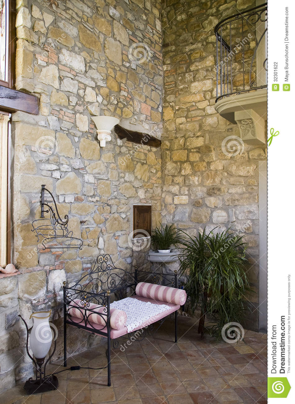 Rustic Interior Of An Italian House Stock Photo Image