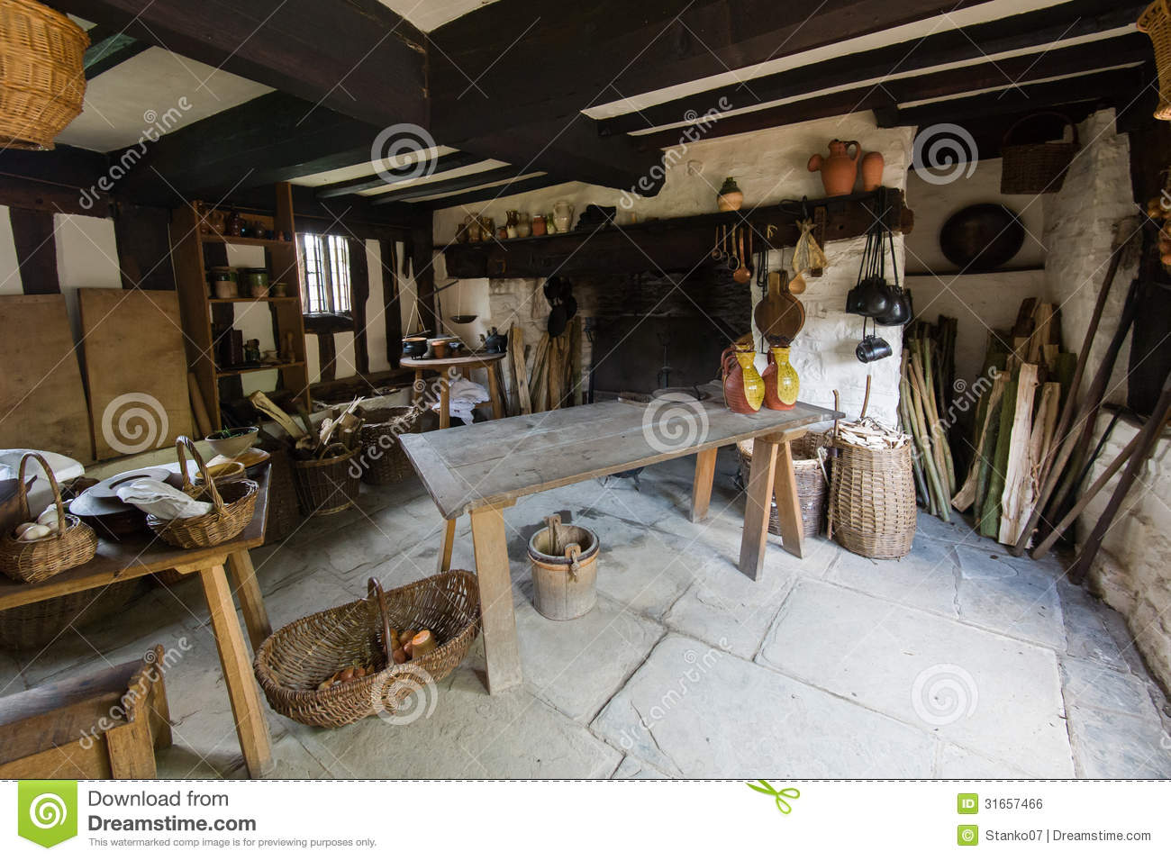 Rustic Kitchen Royalty Free Stock Image Image