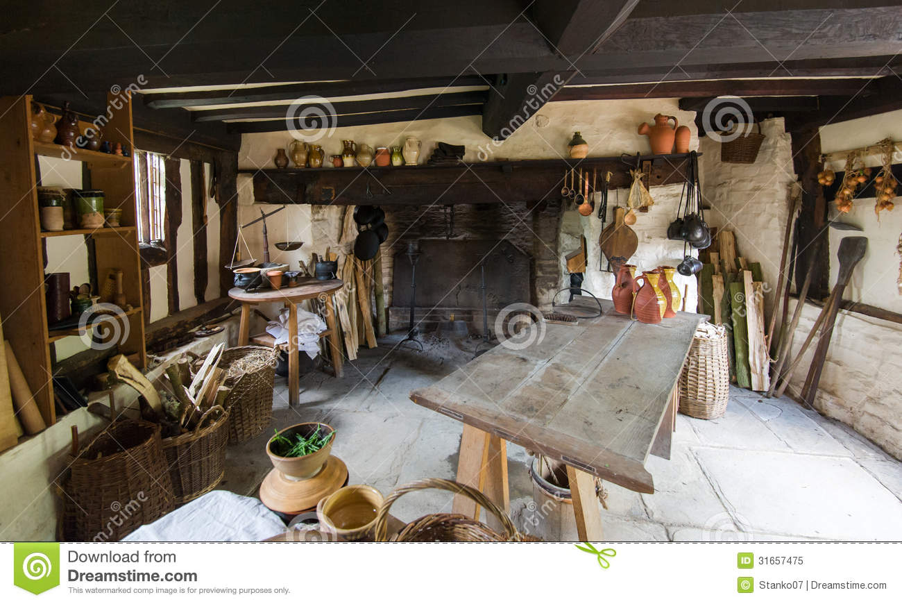 Rustic Kitchen Stock Image Image Of Culinary Estate