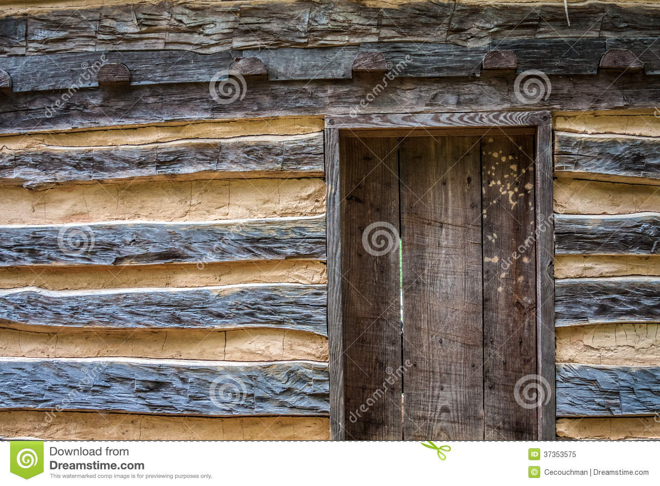 Amazing photo of Rustic Log Cabin With Door Royalty Free Stock Photo Image: 37353575 with #8B6A40 color and 1300x957 pixels