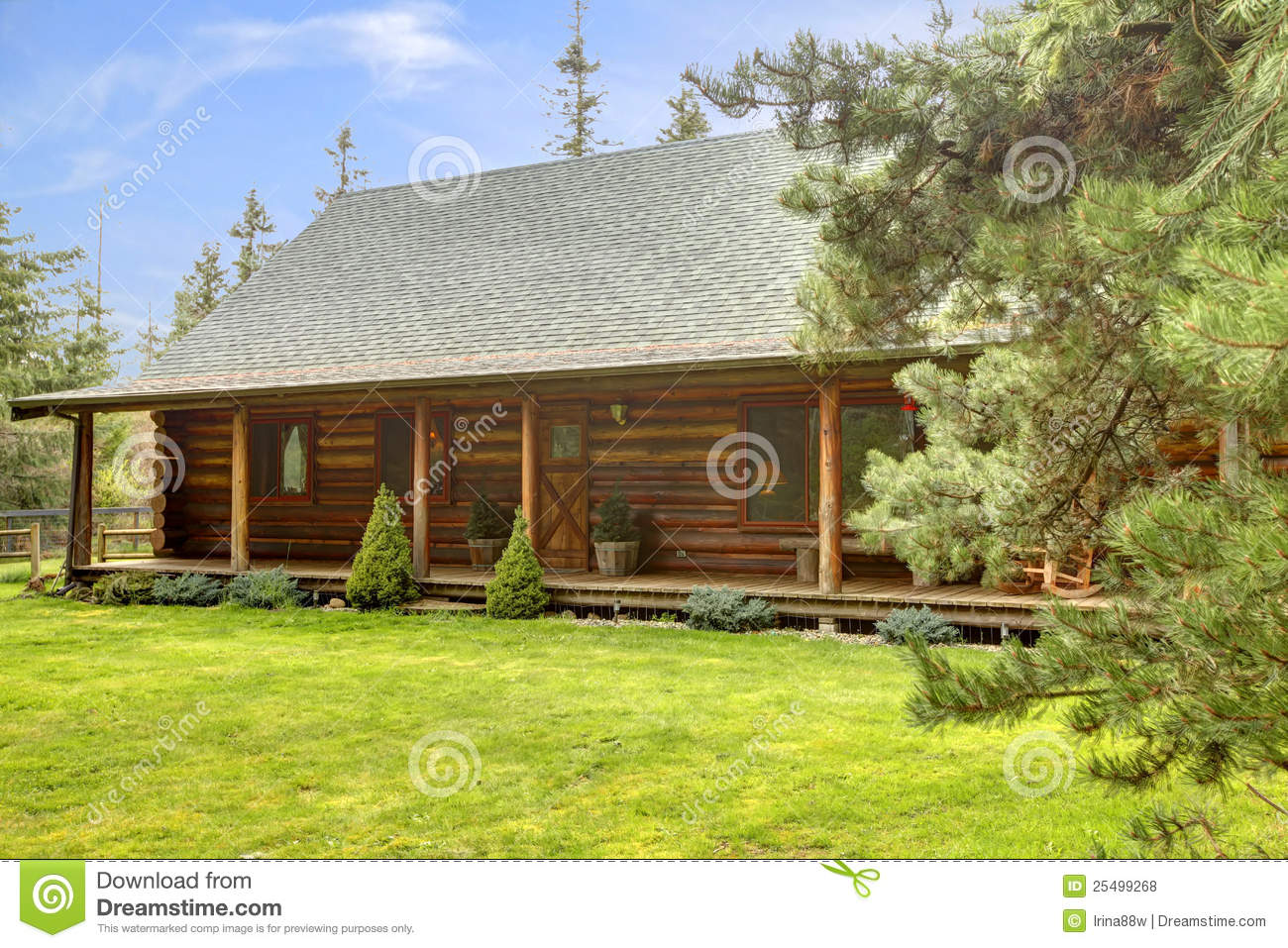 Log cabin on a lake royalty free stock photography image 7866317 - Rustic Log Cabin Front Porch Exterior Royalty Free Stock Photos