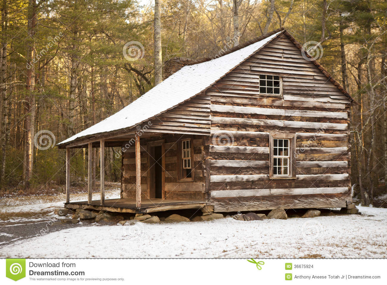 Rustic log cabin in winter stock images image 36675924 for Rustic log homes