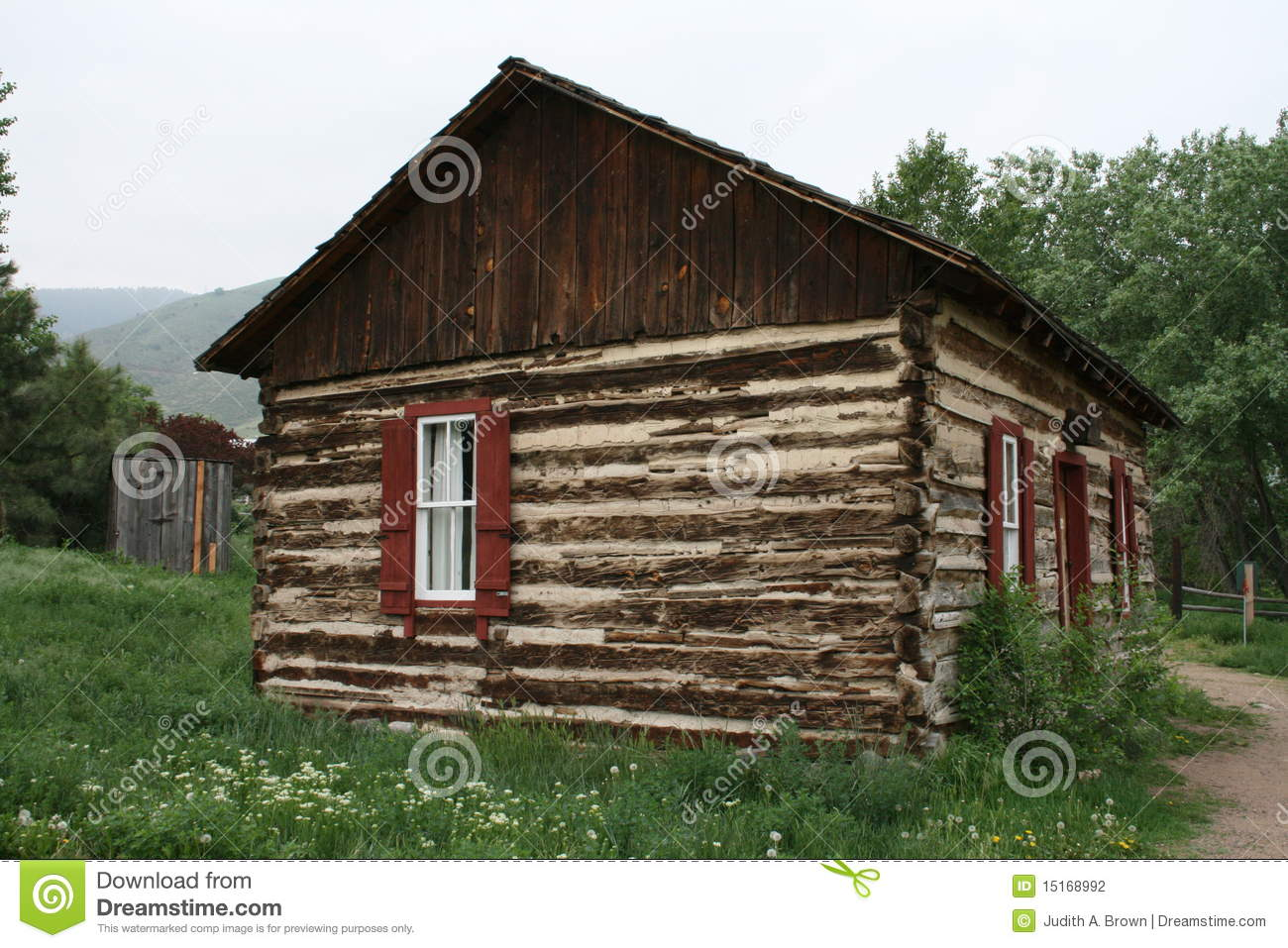 Rustic Log Home Stock Photography Image 15168992