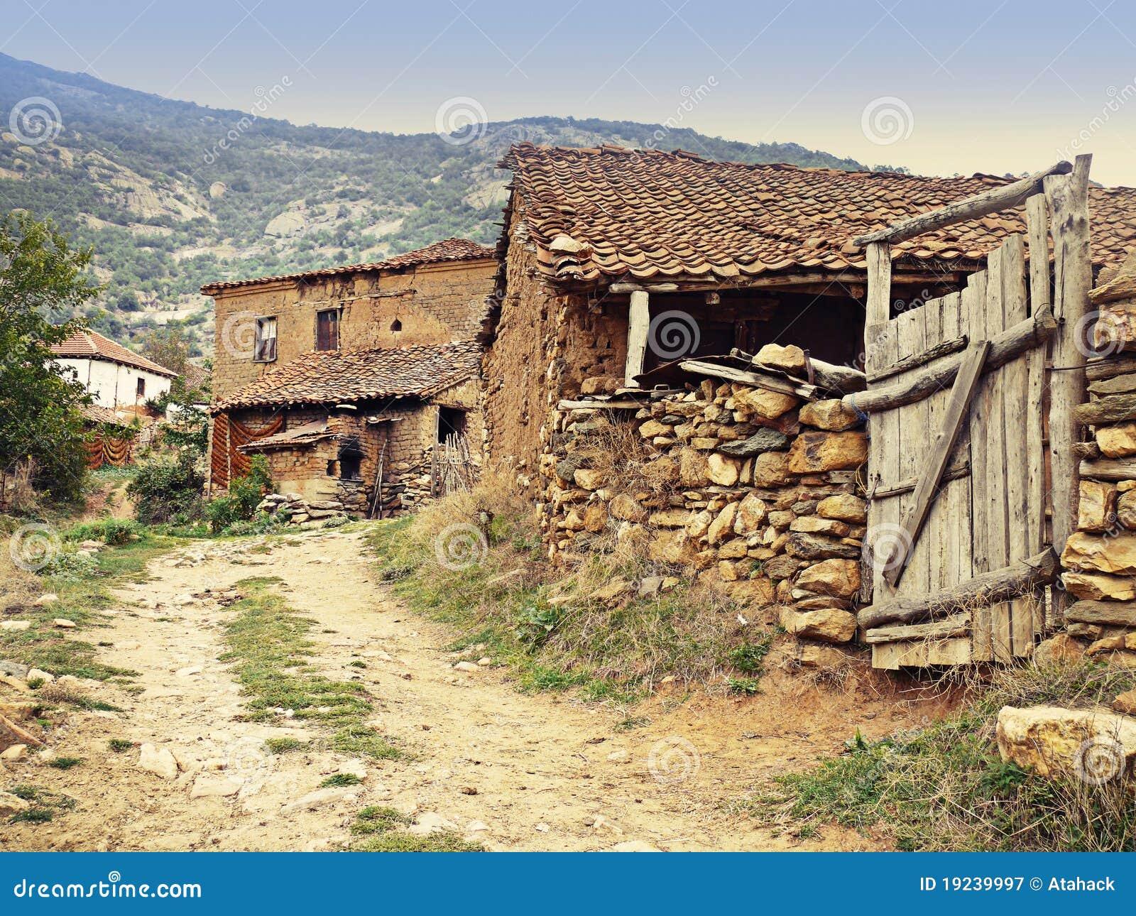 Rustic Mediterranean Village Royalty Free Stock
