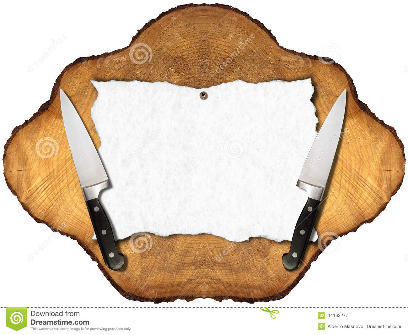 Rustic Menu Background Stock Illustration - Image: 44163277 Table Knife Clipart