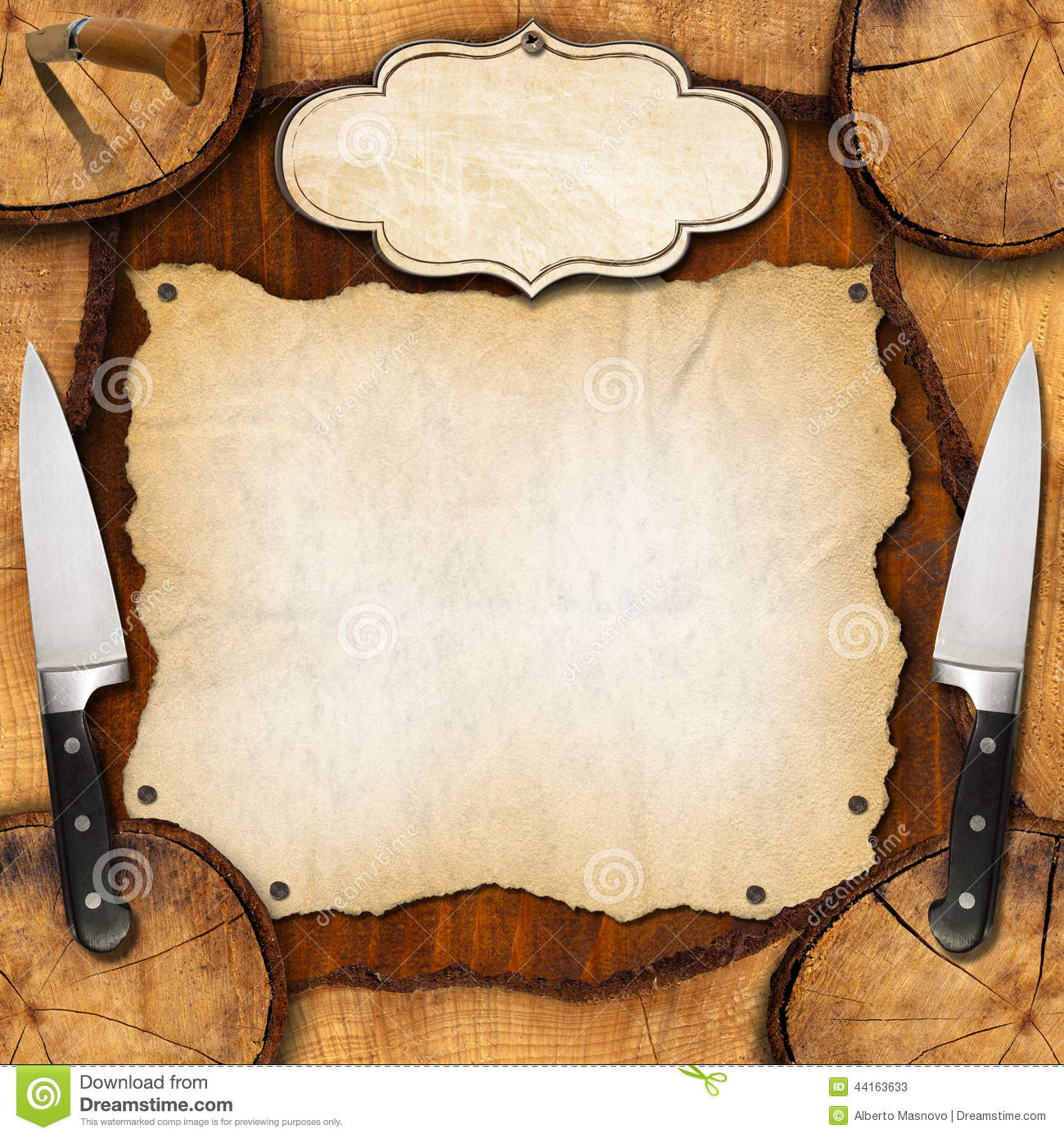 Rustic Menu Background Stock Illustration Image 44163633