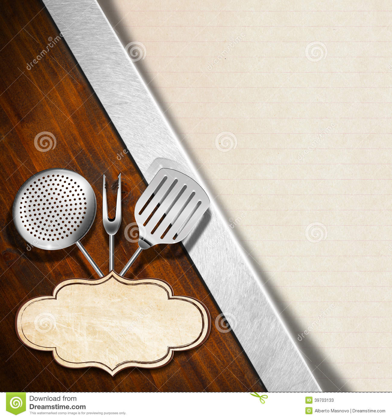 rustic menu template stock illustration