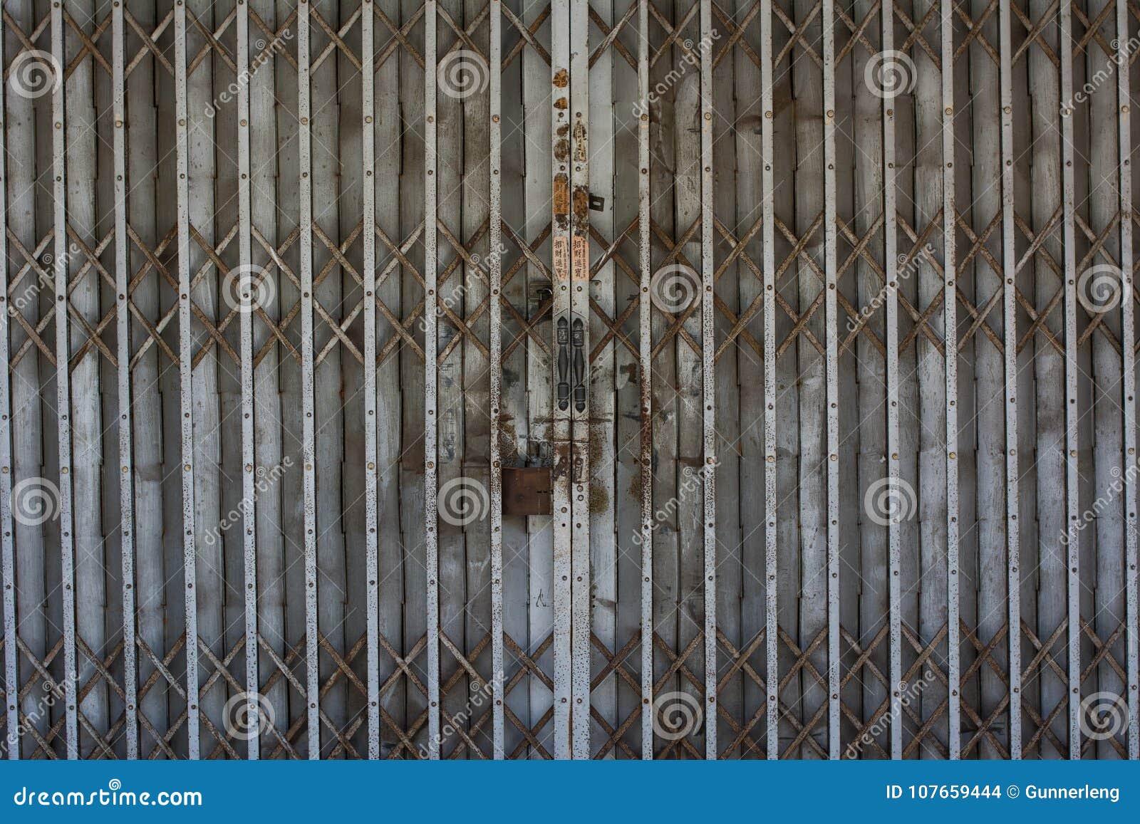 Rustic Metal Sliding Door Stock Photo Image Of Front 107659444