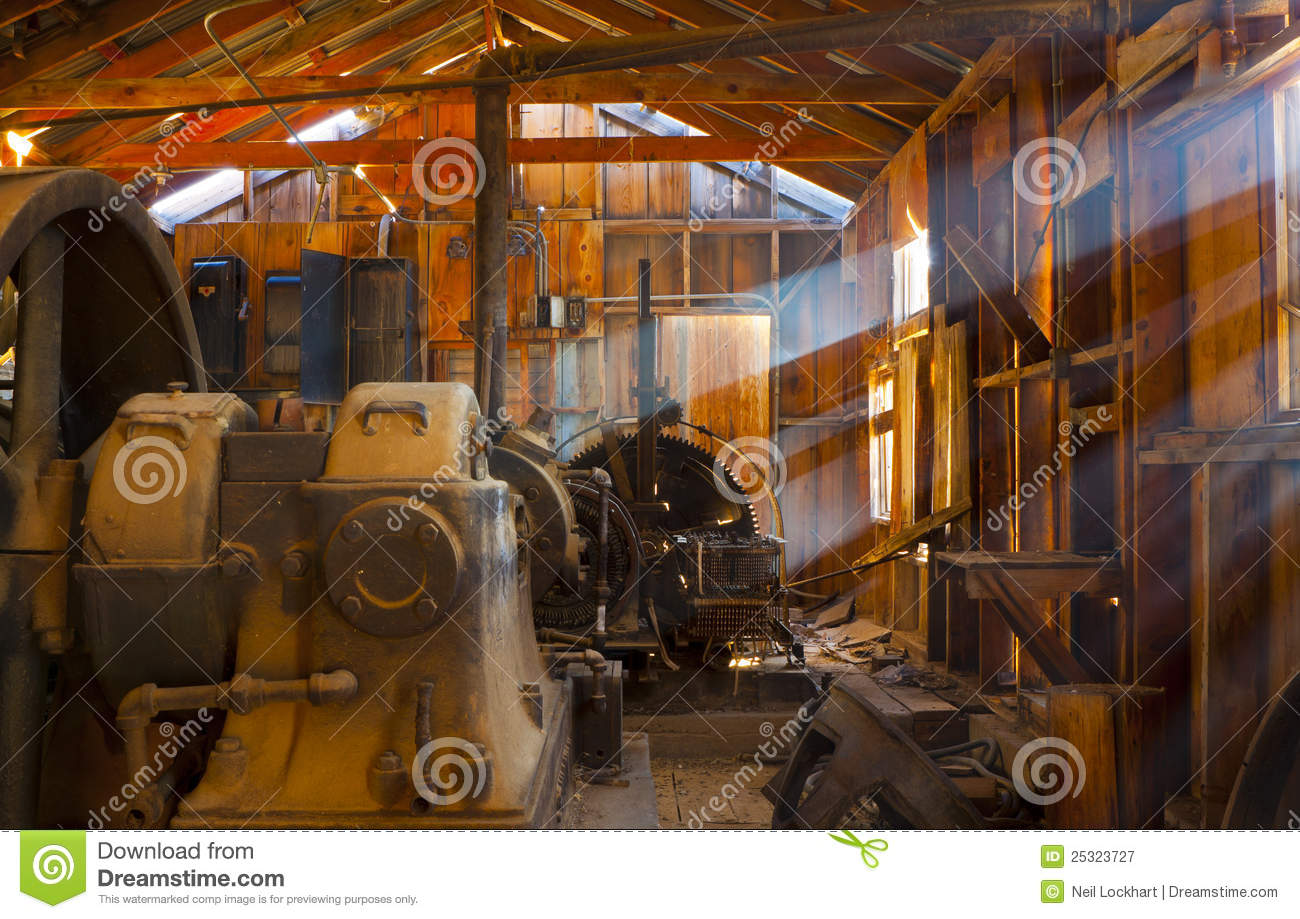 Rustic Mining Shack Stock Image Image Of Engine Faded
