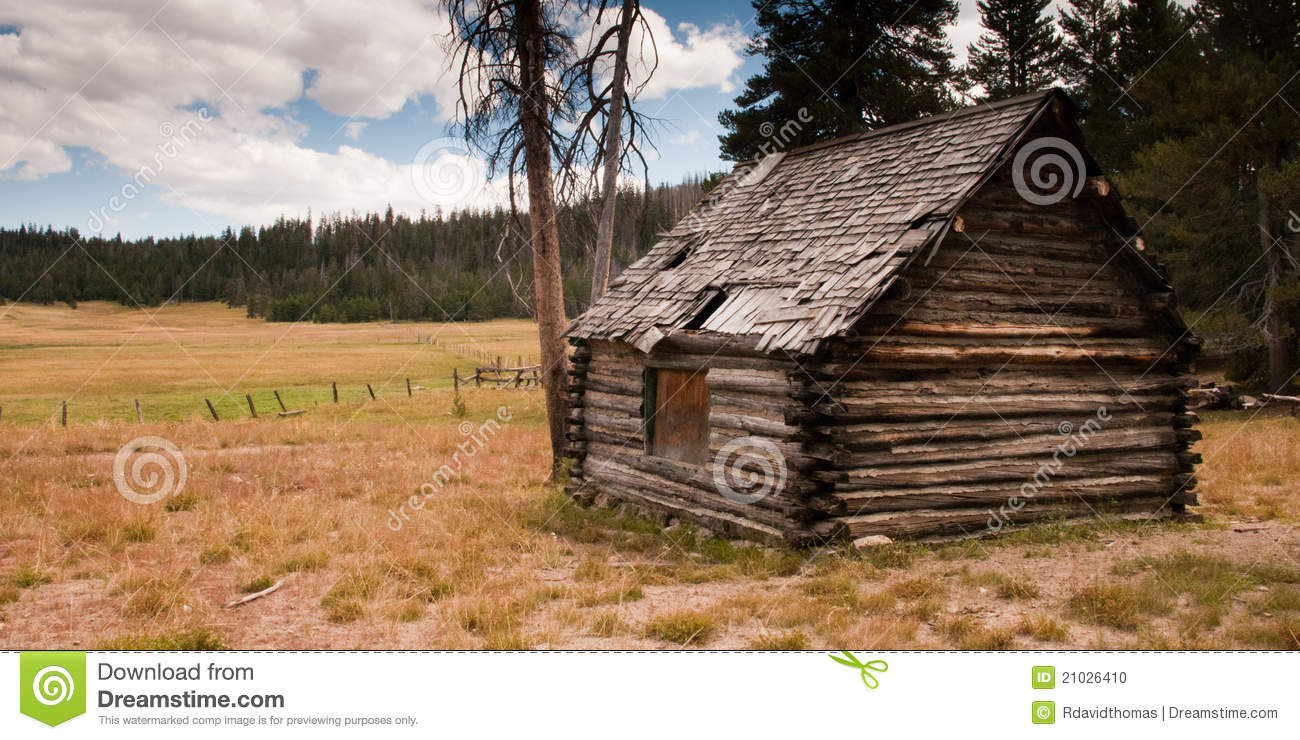 Rustic Mountain Log Cabin Stock Photo Image Of History