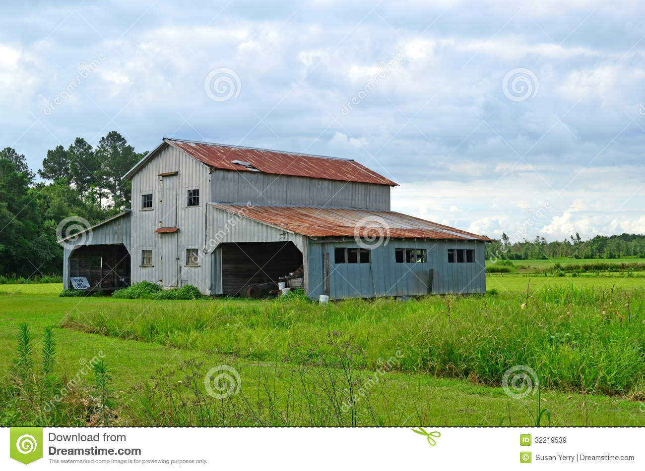 Rustic Old Barn Shed Garage On Farm Royalty Free Stock