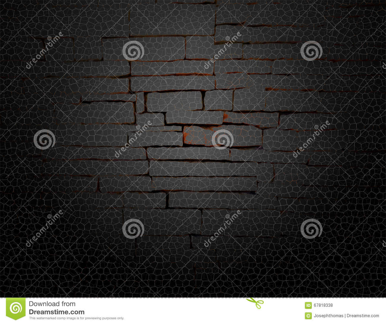 Black Gray And Red Rustic Old Fashioned Brick Wall With Elegant String Lights Grid Background Design Graphic