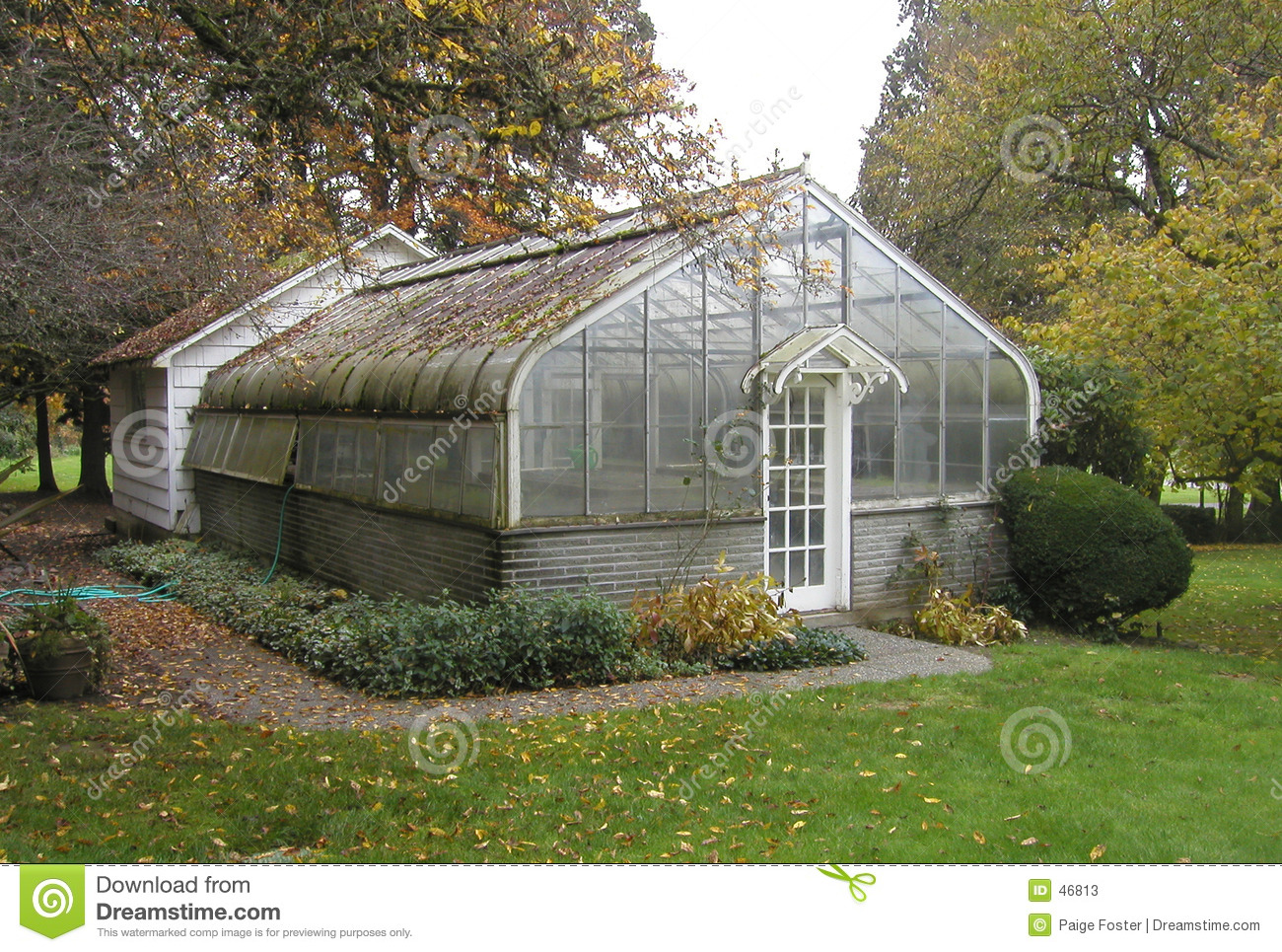 Download Rustic old greenhouse stock image. Image of door, fall, autumn - 46813