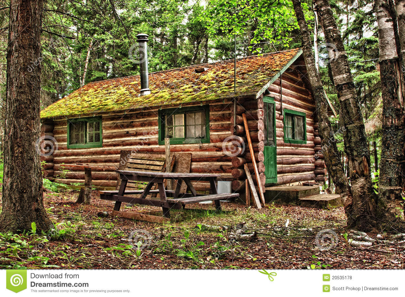 Rustic old log cabin stock photo image of lodge for Rustic log homes
