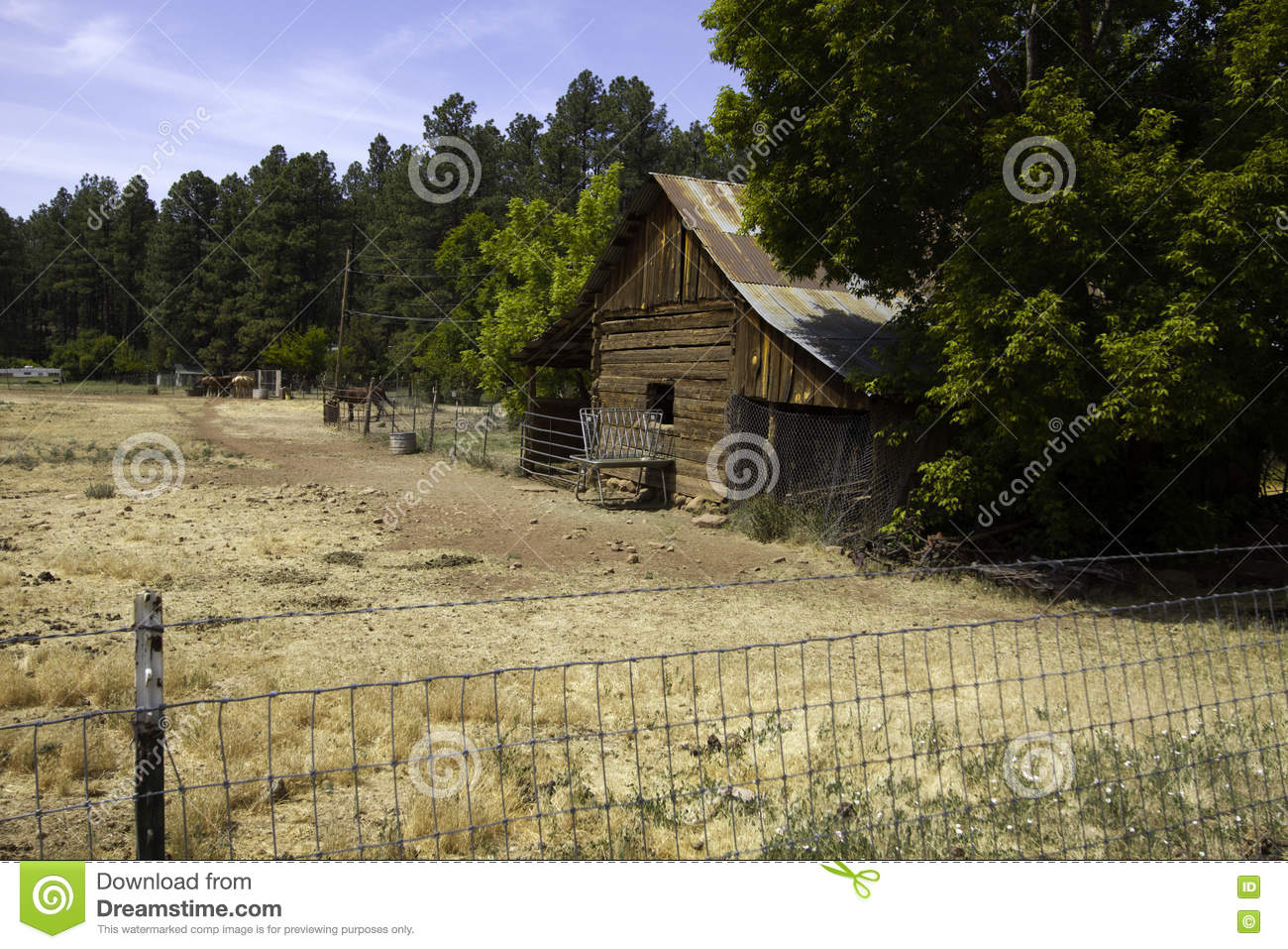Rustic Old West Settler Horse Barn And Shed Stock Image Image Of Family Farm 72868711