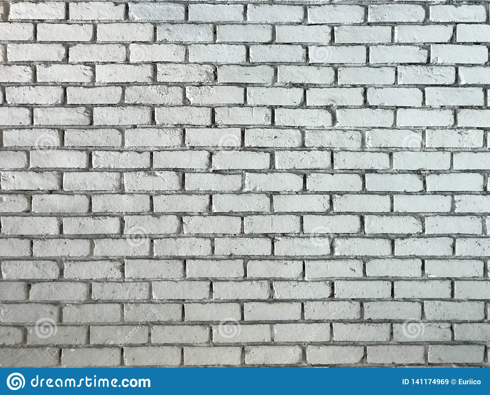 Rustic old white Brick Wall Background Image