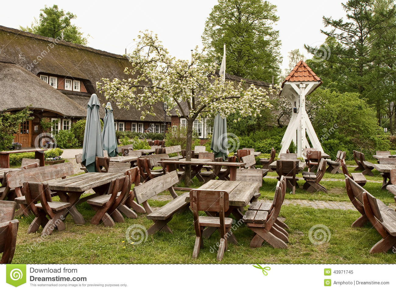 Download Rustic Outdoor Cafe Stock Image Of Brown Restaurant