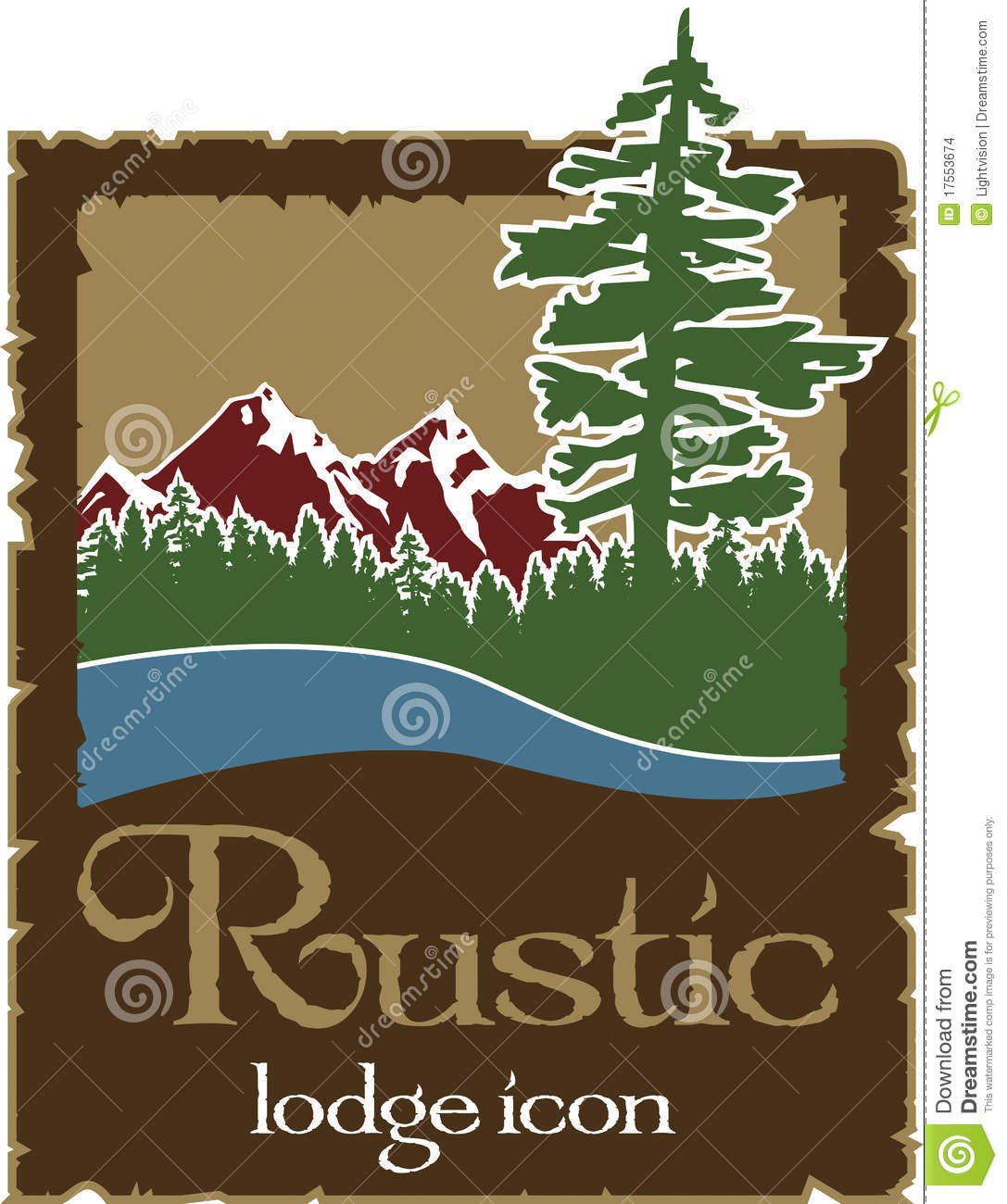 Rustic outdoors logo with copy space