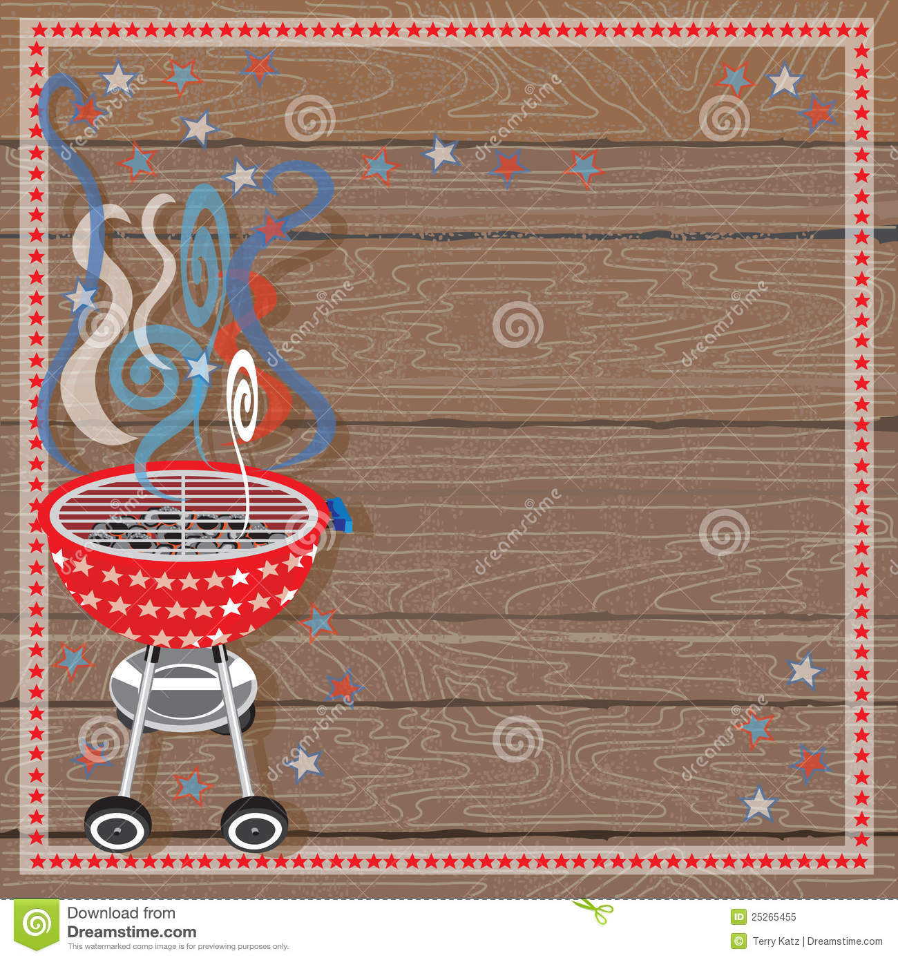 Rustic Patriotic Or 4th Of July Bbq Party Royalty Free