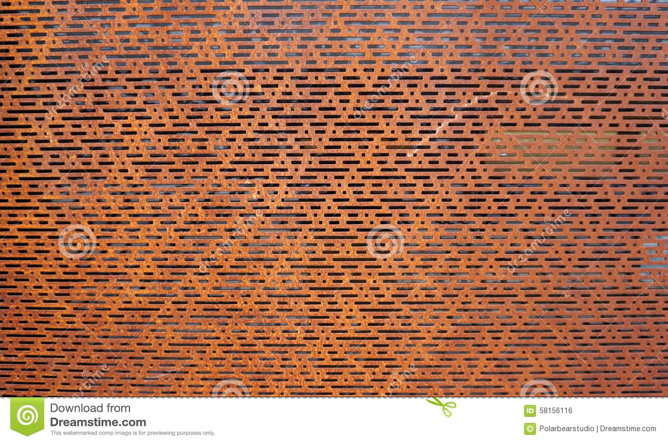 Rustic Perforated Metal Horizontal Stock Photo Image Of