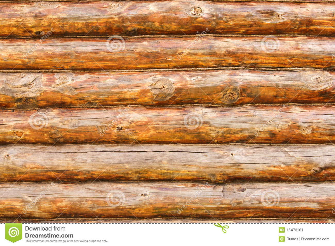 rustic pine log cabin wall stock image image of scene 15473181