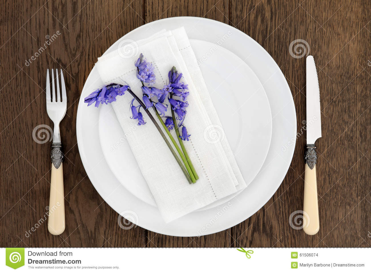Rustic place setting stock photo image 61506074 for Place setting images