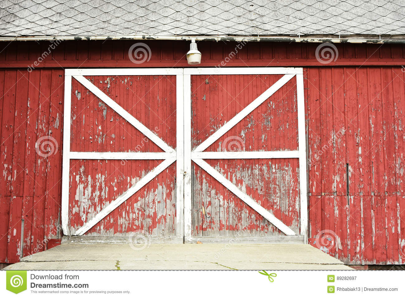 Download Rustic Red Barn Doors Stock Image Of Weathered
