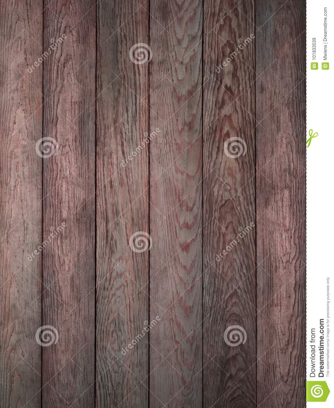 Rustic Red Weathered Barn Wood Board Background Stock