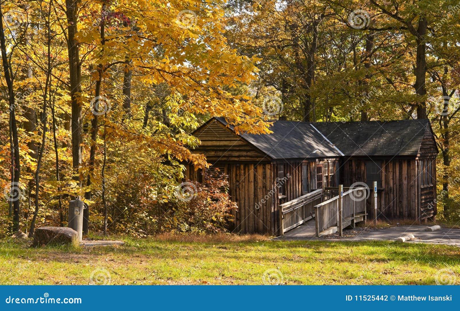 Rustic Rental Cabin Stock Photo Image Of Leaves Rustic