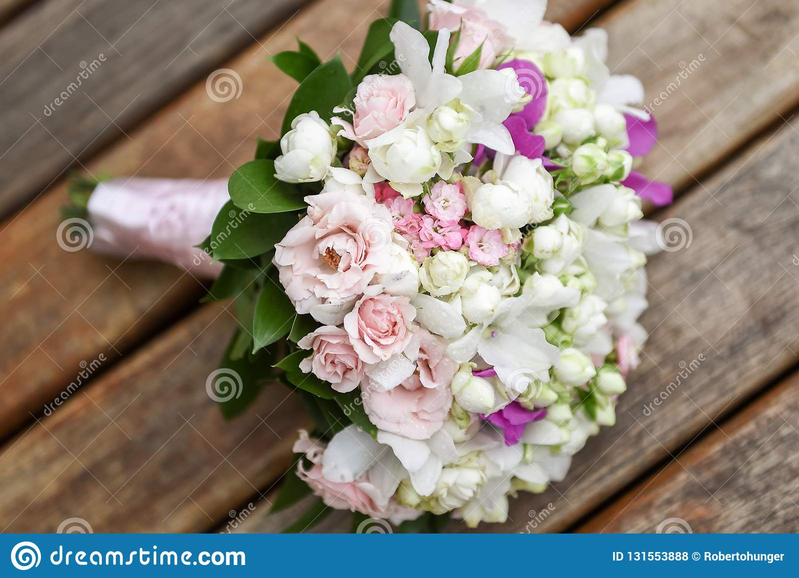 Rustic And Romantic Bridal Bouquet Wedding Arrangement With Many Colors And Flowers Rustic And Romantic Bridal Bouquet Wedding Stock Photo Image Of White Bridal 131553888