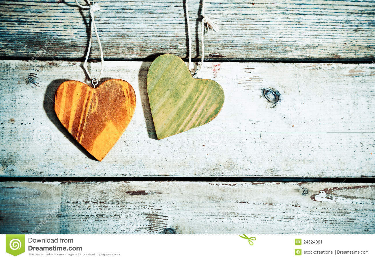 Rustic Romantic Hearts Stock Image Image 24624061