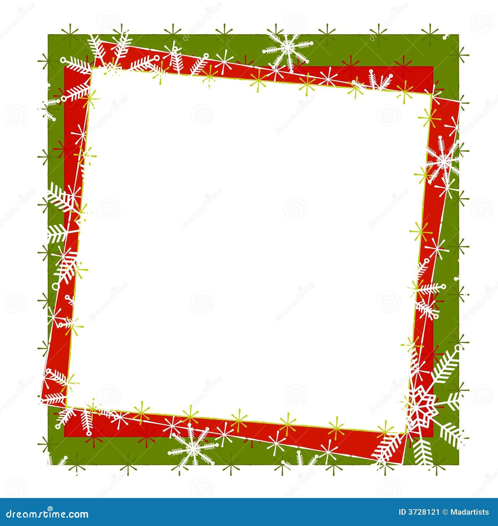 Rustic Snowflake Frame or Border