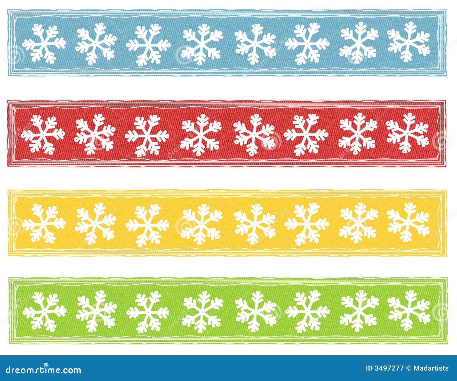 Rustic Snowflake Logos Banners