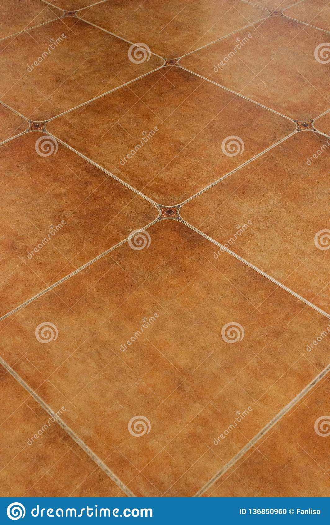 Rustic Style Terracotta Tiles With Rounded Corners Stock