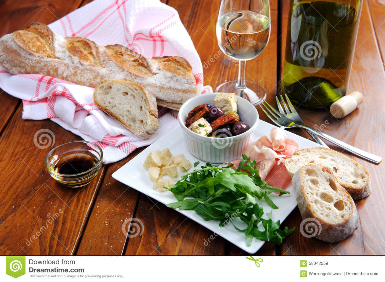 Royalty Free Stock Photo. Download Rustic Table Setting ...