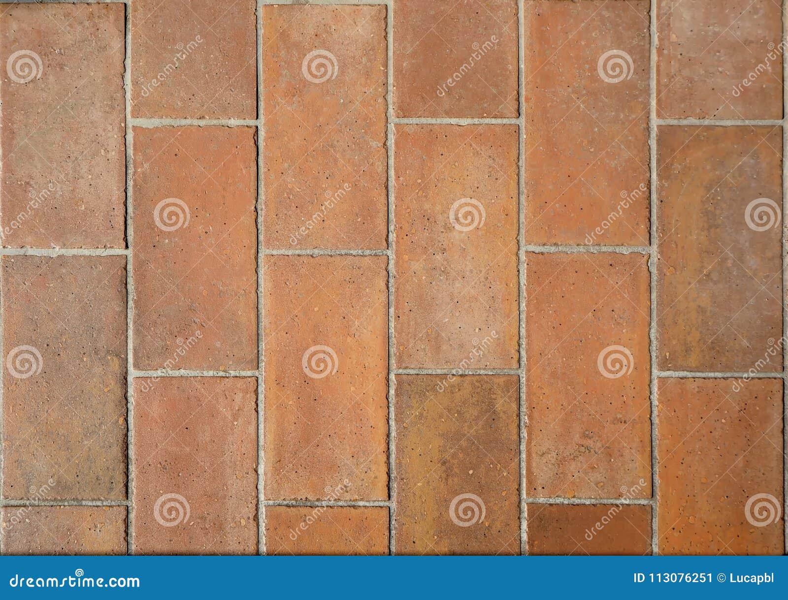 Rustic Terracotta Tiles For Balconies Or Outdoor Floors Stock Image