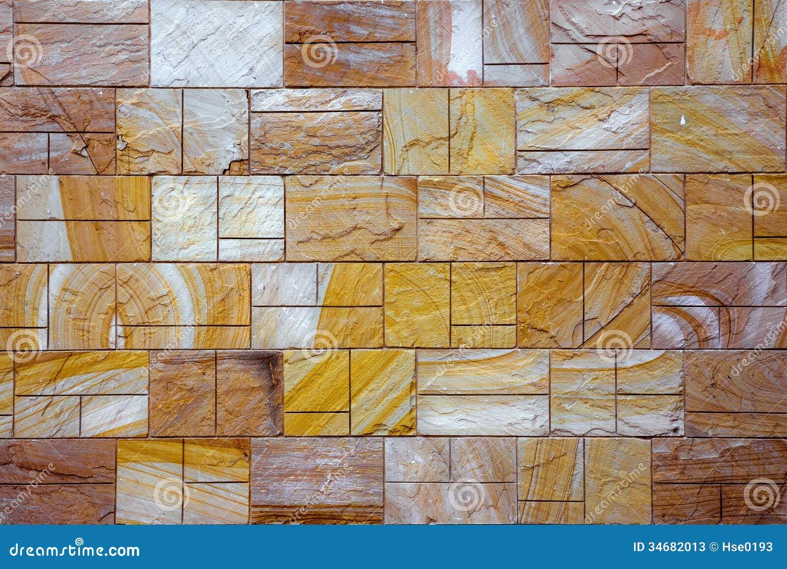 Decorative Brick Walls : Rustic tile brick wall stock image of