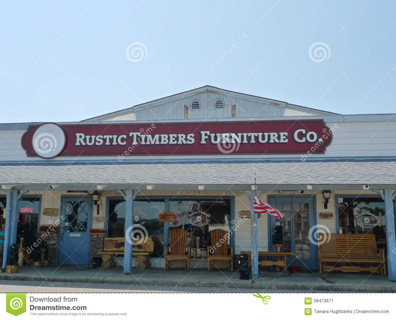 Rustic Timbers Furniture Company Exterior Editorial Photo Image