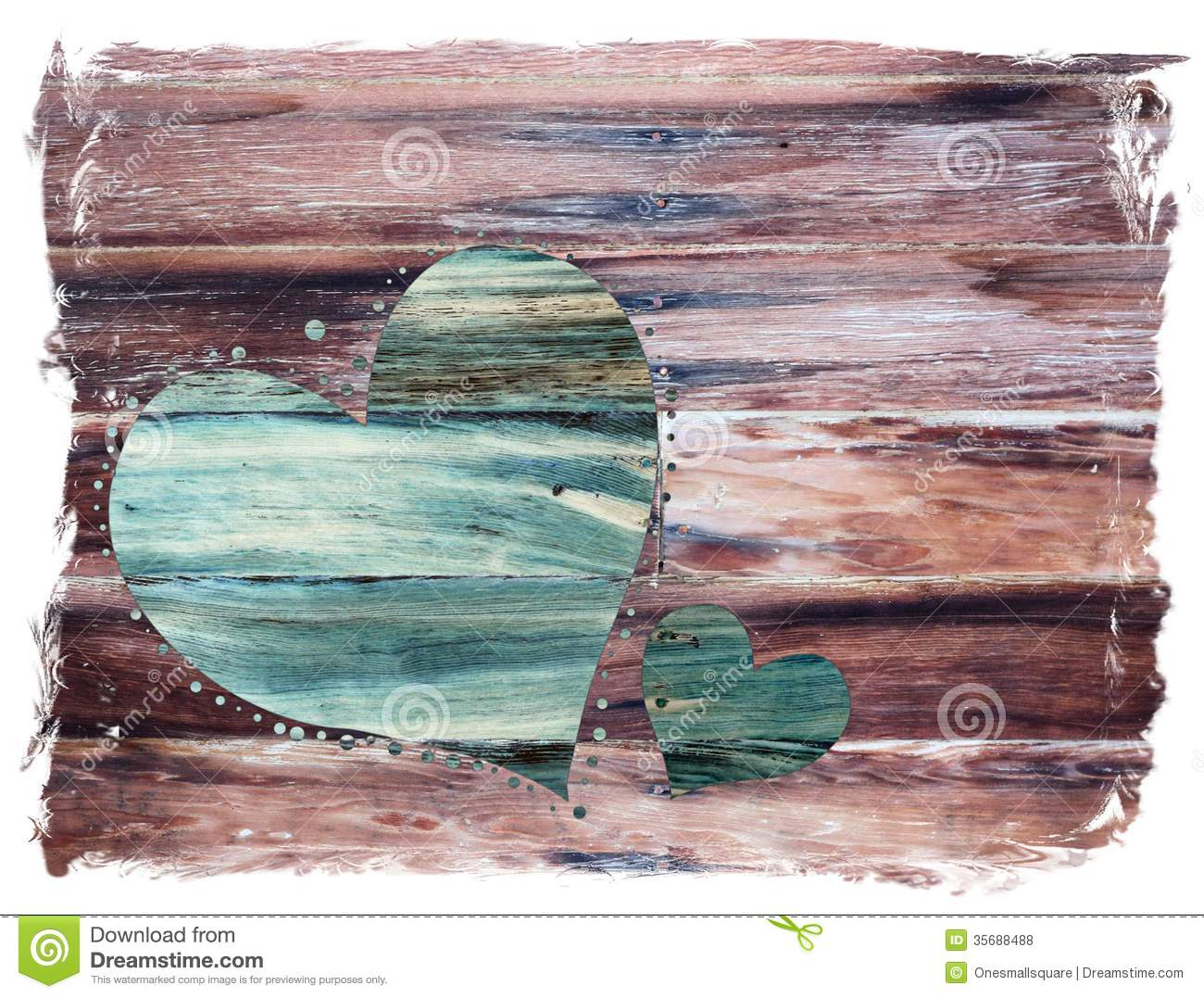Rustic Valentine Heart Stock Photo Image Of Copy Love