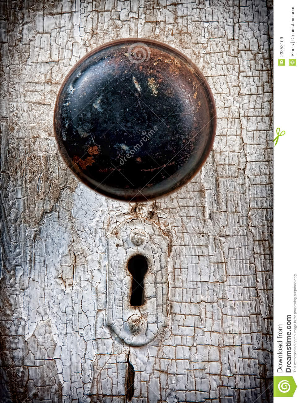 Rustic Vintage Doorknob Stock Image Image Of Knocker