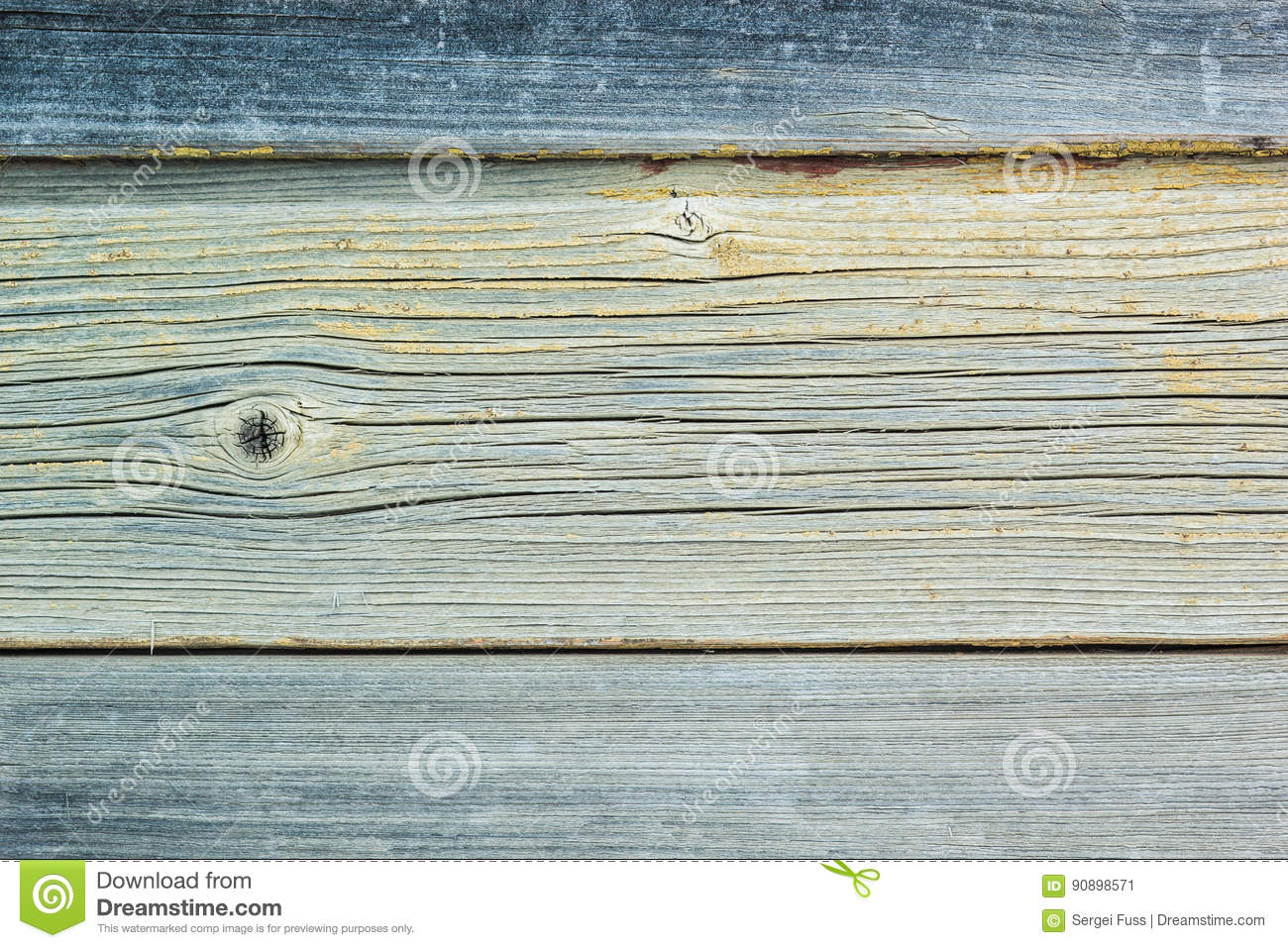 Rustic vintage wooden wall Board with faded paint.