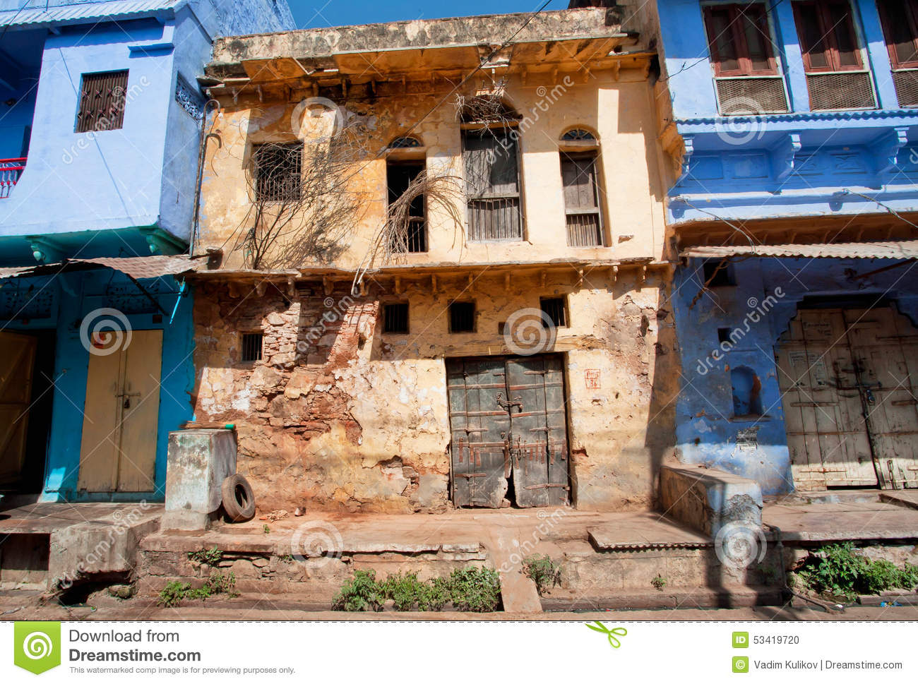 Rustic walls of abandoned houses in india stock photo image 53419720 for Architecture design for home in india free