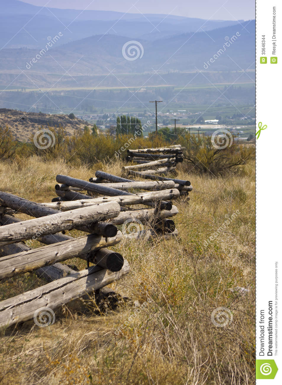 Rustic weathered log fence stock images image 33646344 - Rustic wood fences a pastoral atmosphere ...