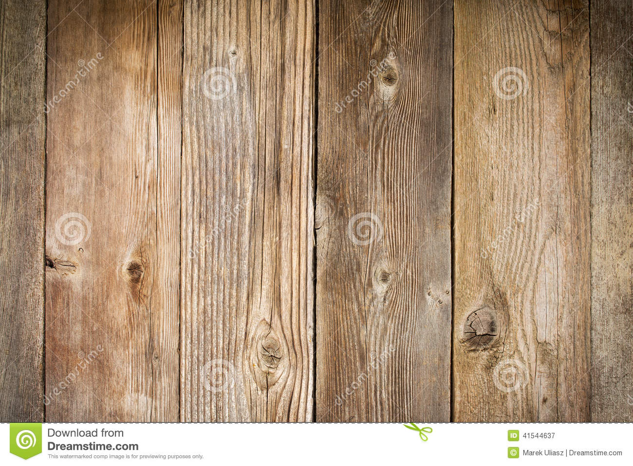rustic weathered wood background with grain and knots vertical planks