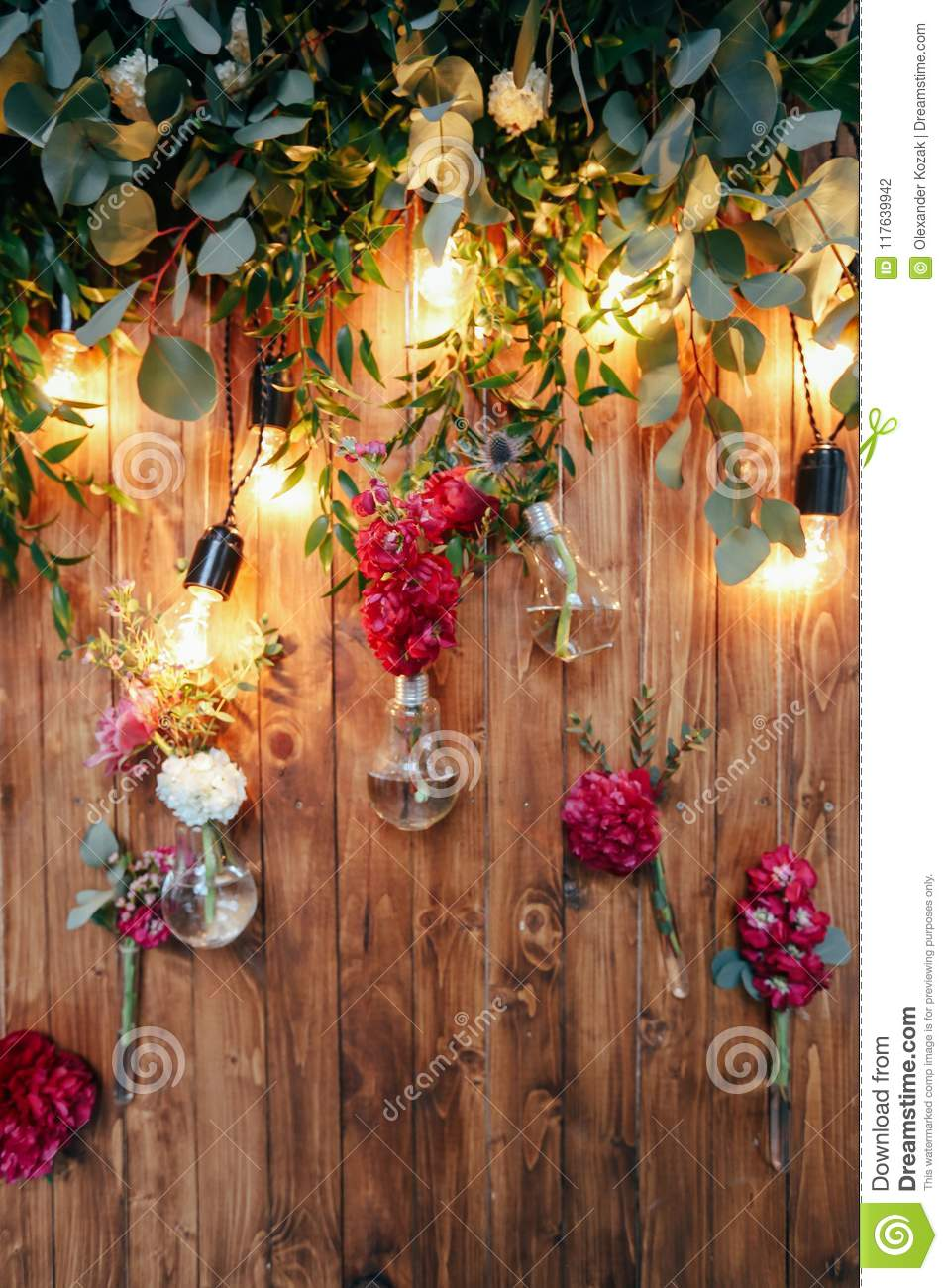 Rustic Wedding Photo Zone Hand Made Wedding Decorations Includes