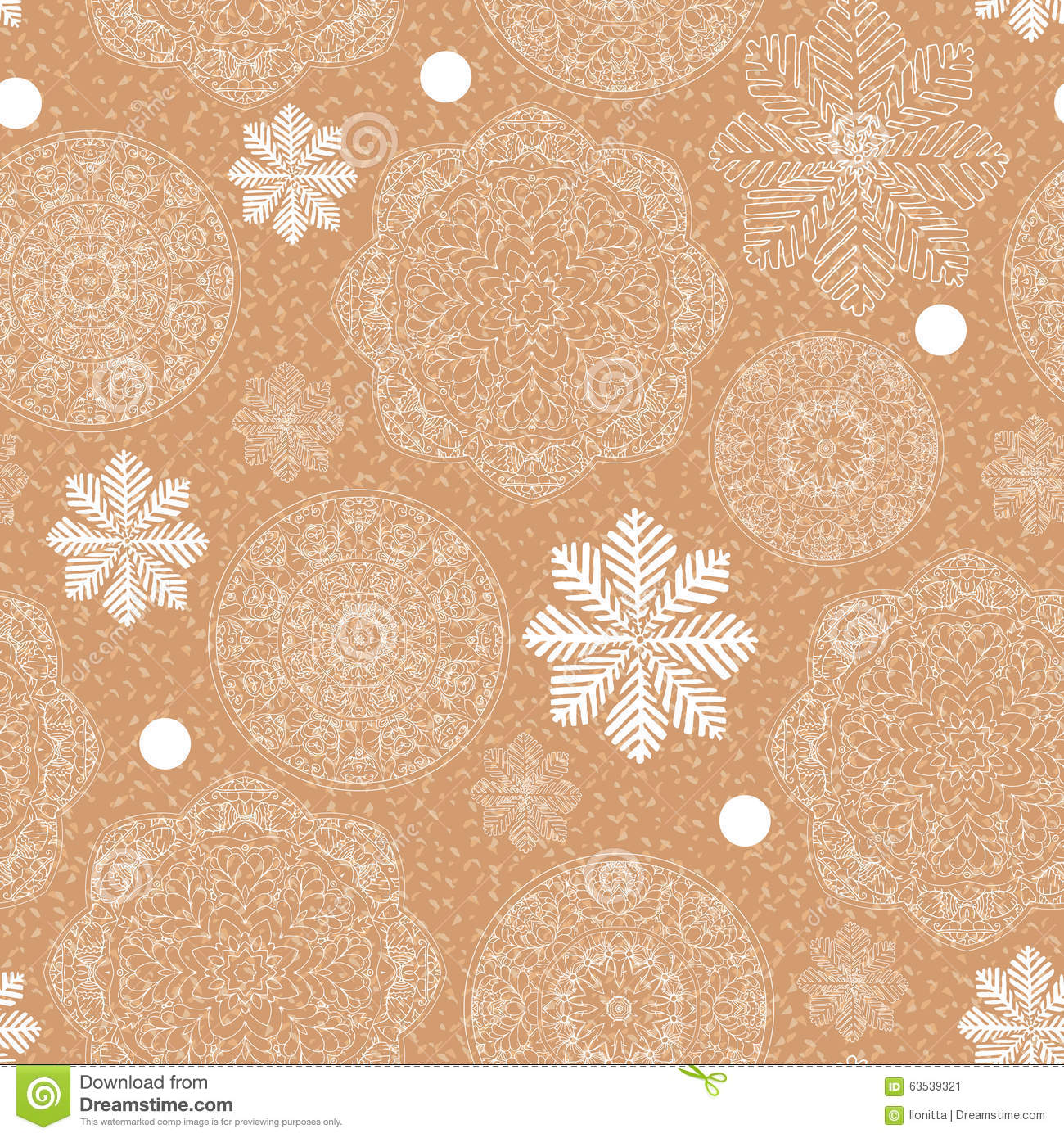 Rustic Winter Seamless Pattern For Scrapbook Stock Vector